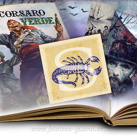 Stelle letterarie: Scorpione - collage digitale elaborazione ©Fototeca Gilardi