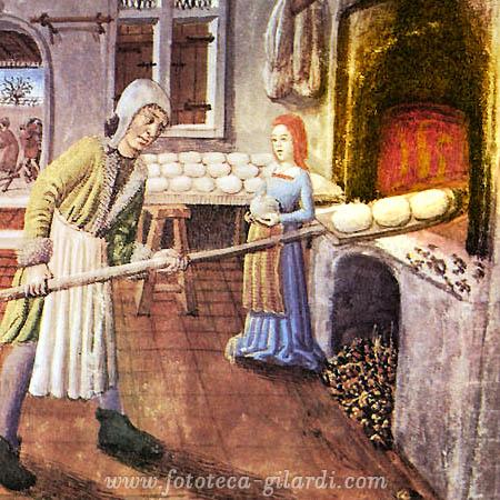 mestieri nel medioevo, il fornaio - elaborazione ©Fototeca Gilardi