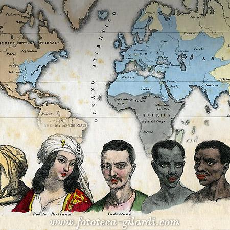 illustrazioni da trattato geografico del 1853, elaborazione ©FototecaGilardi