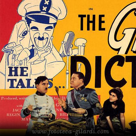 Manifesto per il film 'The Great Dictator' di Charlie Chaplin, 1940 elaborazione ©FototecaGilardi