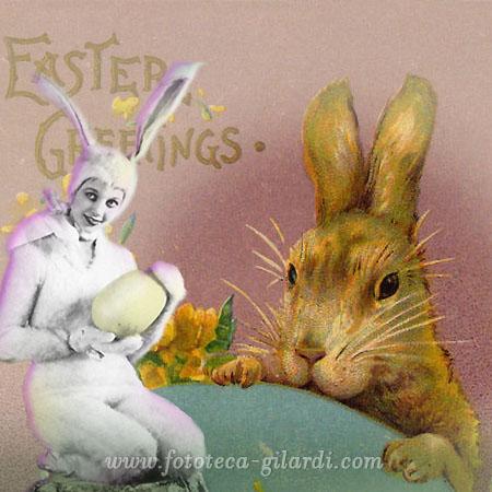 Buona Pasqua! immagini augurali XIX e XX secolo,  elaborazione ©Fototeca Gilardi