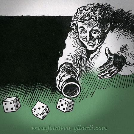 gioco d'azzardo: strappo da pubblicità per un libretto di risparmio 1922, elaborazione ©Fototeca Gilardi