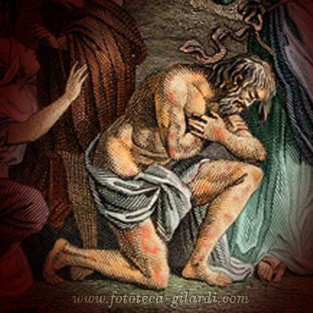 """La purificazione del lebbroso,  da """"La Bible"""" a cura De Sacy XIX sec. elaborazione ©Fototeca Gilardi"""
