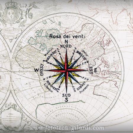 mappa disegnata da Nicolas Sanson (1600-1667) elaborazione ©Fototeca Gilardi