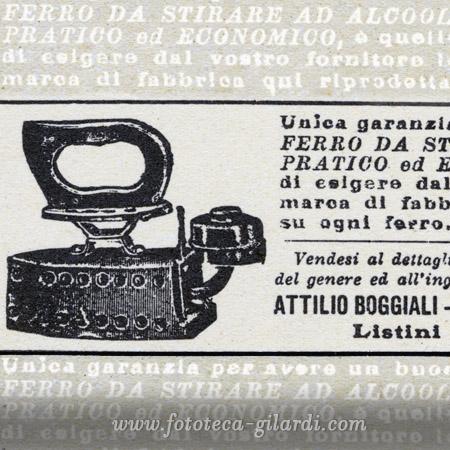 pubblicità del ferro da stiro nel 1900, elaborazione ©Fototeca Gilardi