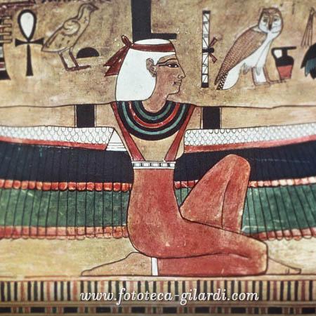 Iside, pittura murale XIX dinastia, ©Fototeca Gilardi