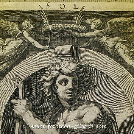 personificazione del dio Sole. Incisione, Roma 1613 - elaborazione ©Fototeca Gilardi