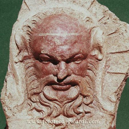 divinità etrusca maschile con barba, ©Fototeca Gilardi