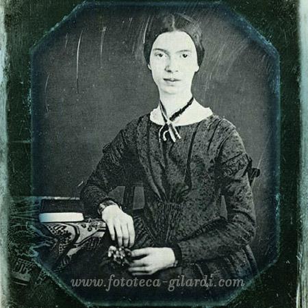 Emily Dickinson (1830-1886) poetessa, dagherrotipo - elaborazione  ©Fototeca Gilardi