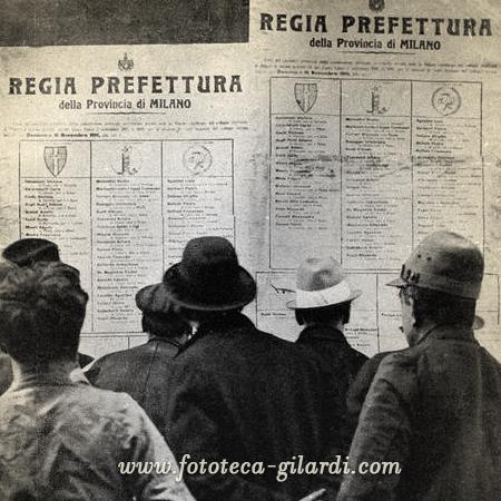 Elezioni, Italia 1919 - Elaborazione ©Fototeca Gilardi