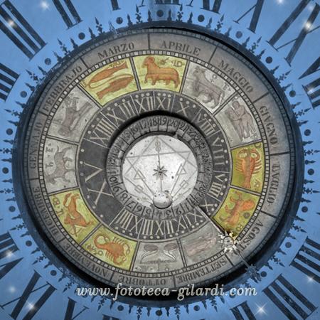 orologio astronomico di Clusone (BG) elaborazione ©Fototeca Gilardi