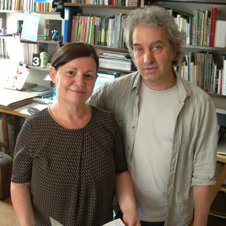 Daniela Giordi e Silvio Ortolani - ABF Atelier per i Beni Fotografici, in consegna per Fototeca Gilardi fotografia Patrizia Piccini