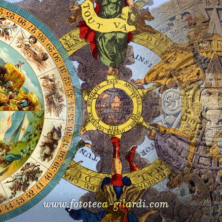 calendario didattico e allegorico nella storia , elaborazione ©Fototeca Gilardi