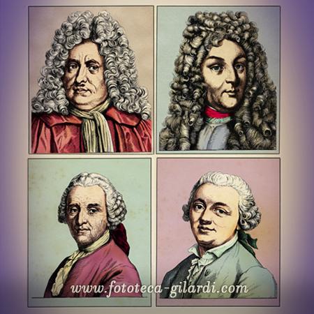 ritratti di uomini illustri XVI- XVIII-XIX secolo, elaborazione ©Fototeca Gilardi