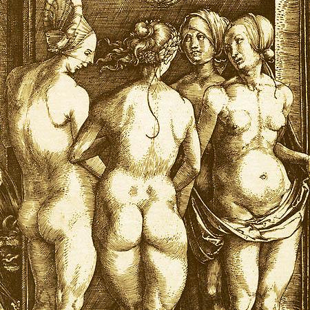 le quattro streghe, incisione di Albrecht Durer