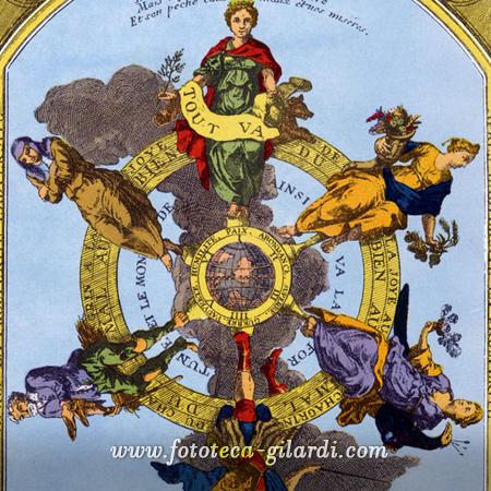 calendario allegorico dei contadini,  Francia XVII secolo - elaborazione ©Fototeca Gilardi