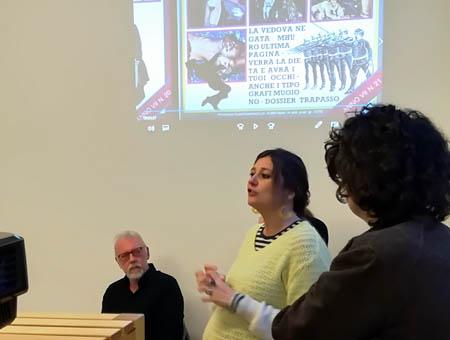 Diletta Colombo dello Spazio B**K alla presentazione DVD Officina Phototeca,  Spazio B**K, Milano maggio 2019