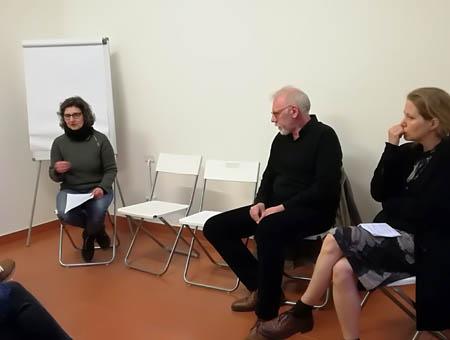 Patrizia Piccini alla presentazione del  DVD Officina Phototeca,  Spazio B**K, Milano maggio 2019