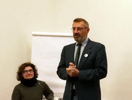 Carlo Gandolfi alla presentazione del  DVD Officina Phototeca,  Spazio B**K, Milano maggio 2019