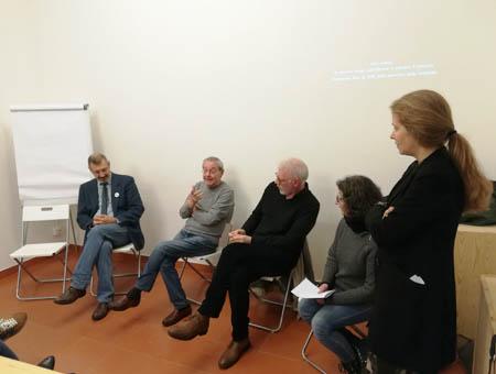 Nello Rossi alla presentazione del  DVD Officina Phototeca,  Spazio B**K, Milano maggio 2019