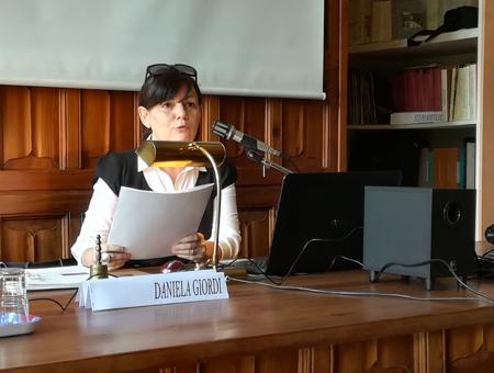 Daniela Giordi ideatrice e coordinatrice del progetto  #Archiviare il presente, Torino maggio Giugno 2019