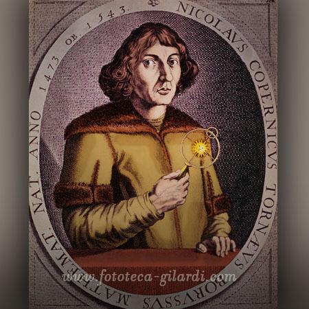 Niccolò Copernico nato il 19 febbraio 1473, stampa colorata ©Fototeca Gilardi