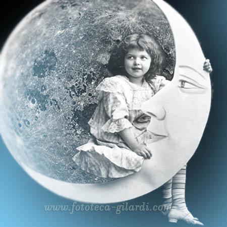 20 luglio 1969 - 20 luglio 2019 anniversario dell'uomo sulla Luna, omaggio a Gianni Rodari - elaborazione ©Fototeca Gilardi