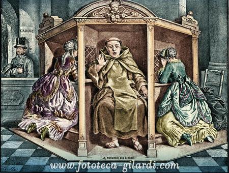 Il mercoledì delle ceneri, stampa satirica XVIII secolo ©Fototeca Gilardi