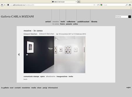 Steichen Steichen alla Galleria Carla Sozzani